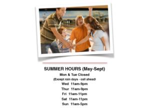 Summer Hours (May-Sept)